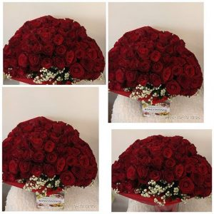 Delivery 125 Red Roses at Restaurants and hotels to Thessaloniki