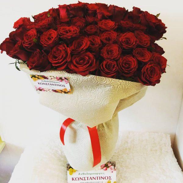 Ανθοδέσμη με 101 υπέροχα κόκκινα τριαντάφυλλαΟλλανδίας | Αυθημερόν Παραδόσεις στη Θεσσαλονίκη | Ανθοπωλείο Ανθοδημιουργίες Κάτω Τούμπα Θεσσαλονίκης