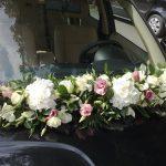 ορτανσιες λευκες γιρλαντα αυτοκινητου