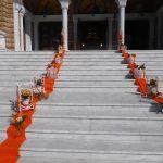 διακοσμηση γαμου πορτοκαλι