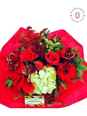 Σύνθεση λουλουδιών με κερί Θεσσαλονίκη | Online ανθοπωλείο ανθοδημιουργίες Τούμπα Θεσσαλονίκης