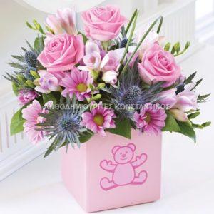 σύνθεση λουλουδιών ανθοπωλειο εντο γενεσις