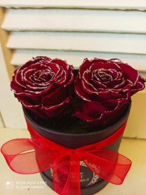 2 Κόκκινα FOREVER ROSES | Online ανθοπωλείο ανθοδημιουργίες Τούμπα Θεσσαλονίκης