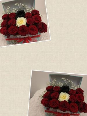 flowers in abox 13 μοναδικά Τριαντάφυλλα, ιδανικά για δώρο! Αυθημερόν delivery στη Θεσσαλονίκη! Ανθοπωλείο Ανθοδημιουργίες, στην Τούμπα Θεσσαλονίκης