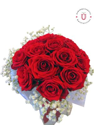 Ανθοδέσμη με 20 Κόκκινα Τριαντάφυλλα