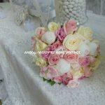 νυφικη ανθοδεσμη με πεονιες τριανταφυλλα ρομαντικος γαμος