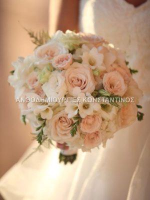 ανθοδέσμη για πολιτικό γάμο Θεσσαλονίκη
