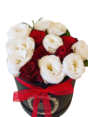 Roses & Lisianthus in Luxury Box