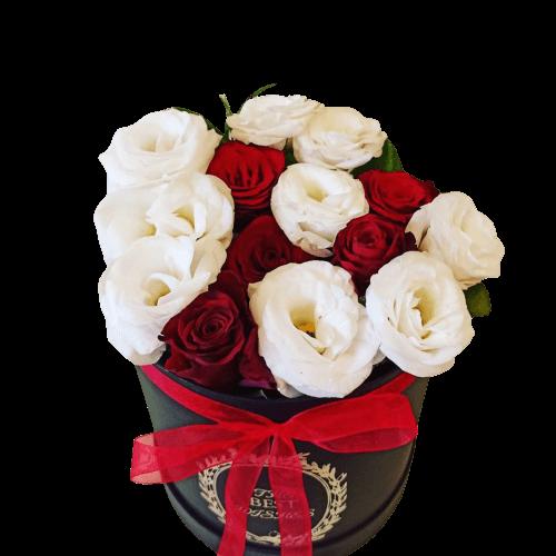Roses & Lisianthus in Luxury Box