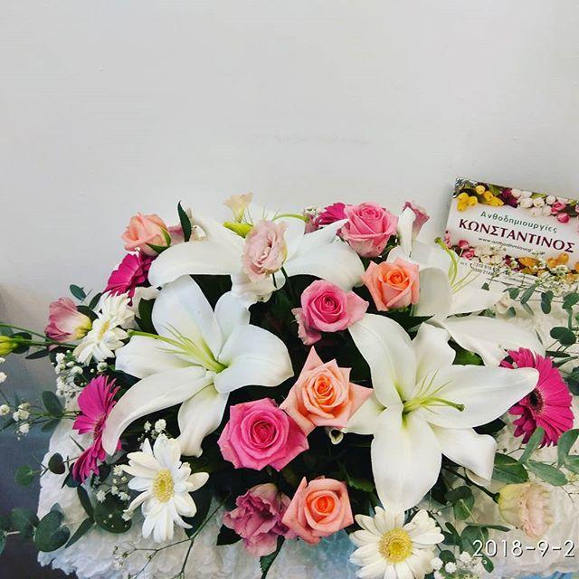 2136e4a437a Σύνθεση λουλουδιών για Αρραβώνα
