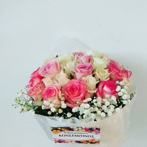 ανθοδέσμη με 30 τριαντάφυλλα