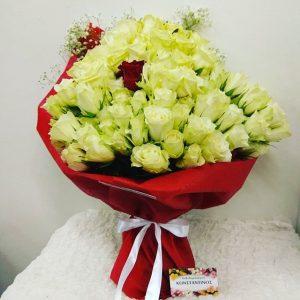 ανθοδέσμη με 101 τριαντάφυλλα