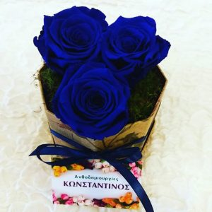4 Ever Blue Roses in a Box