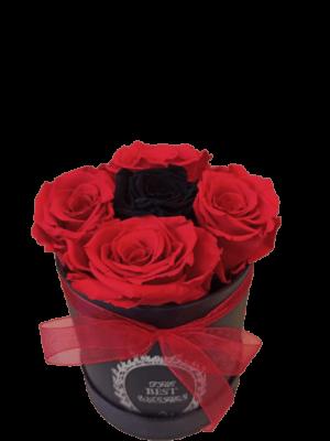 FOREVER ROSES BLACK RED Θεσσαλονίκη | Ανθοπωλείο τούμπα Θεσσαλονίκη Ανθοδημιουργίες