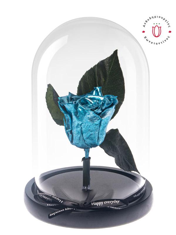 FOREVER ROSES BLUE METALLIC | Forever Roses Ανθοπωλείο Ανθοδημιουργίες Τούμπα Θεσσαλονίκης