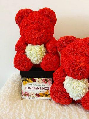 Δίδυμα αρκουδάκια ROSEBEAR φτιαγμένα με πολλή αγάπη. Δώρο που θα μείνει στην καρδιά του παραλήπτη σας