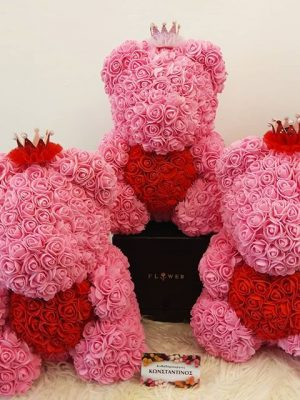 ROSE BEAR PINK RED