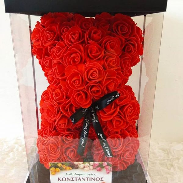 RED ROSE BEAR WITH GIFT BOX
