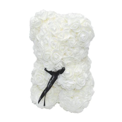 Αρκουδάκι με Λευκά Τριαντάφυλλα σε Κουτί Δώρου Θεσσαλονίκη | ανθοπωλεία τούμπα θεσσαλονίκη