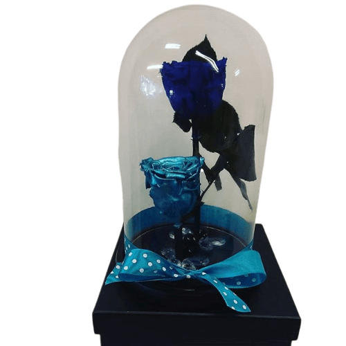 BLUE AND METALLIC BLUE FOREVER ROSES
