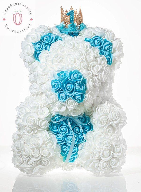Rose Bear light blue