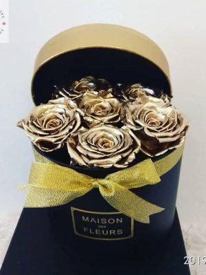 6 χρυσά τριαντάφυλλα forever