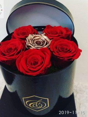 τριαντάφυλλα forever σε κουτί δώρου