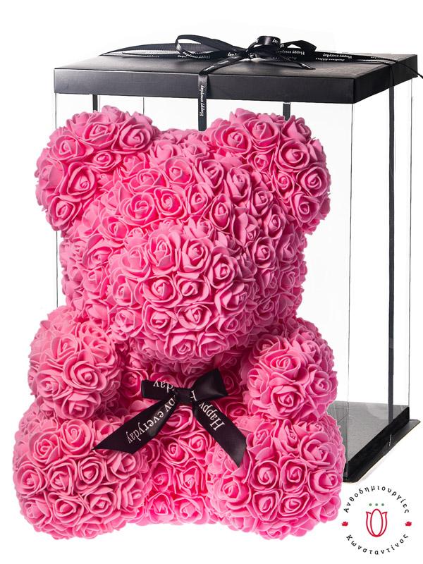 ROSE BEAR PINK WITH GIFT BOX Θεσσαλονίκη | Online ανθοπωλείο ανθοδημιουργίες Τούμπα Θεσσαλονίκης