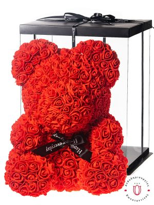 ROSE BEAR RED WITH GIFT BOX