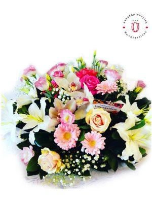 Σύνθεση λουλουδιών αρραβώνα Θεσσαλονίκη | Online ανθοπωλείο ανθοδημιουργίες Τούμπα Θεσσαλονίκης