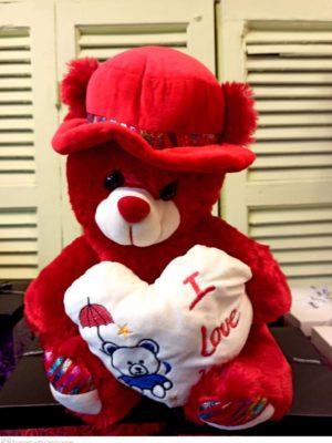 Λούτρινο αρκουδάκι TEDY BEAR I LOVE YOY Θεσσαλονίκη | online ανθοπωλείο ανθοδημιουργίες Τούμπα θεσσαλονίκη