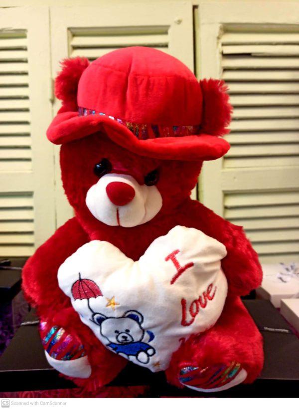 Λούτρινο αρκουδάκι TEDY BEAR I LOVE YOY Θεσσαλονίκη   online ανθοπωλείο ανθοδημιουργίες Τούμπα θεσσαλονίκη