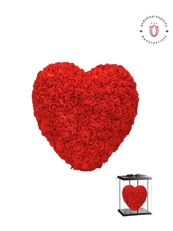ROSE HEART KΟΚΚΙΝΟ Θεσσαλονίκη | Online ανθοπωλείο ανθοδημιουργίες Τούμπα Θεσσαλονίκης
