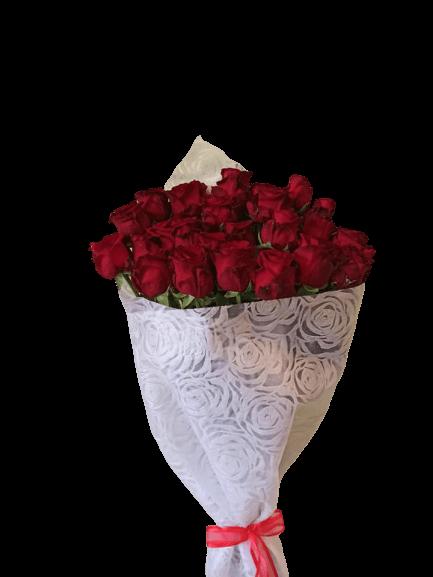 Ανθοδέσμη με 25 Κόκκινα Τριαντάφυλλα στη Θεσσαλονίκη Online Ανθοπωλείο Ανθοδημιουργίες Τούμπα Θεσσαλονίκη