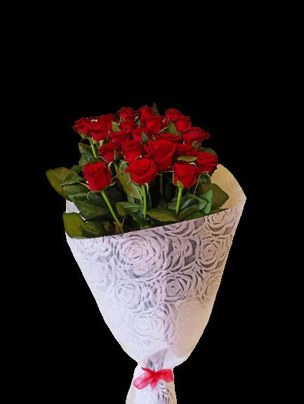 Ανθοδέσμη με 21 Κόκκινα Τριαντάφυλλα | Ανθοπωλείο Ανθοδημιουργίες Τούμπα Θεσσαλονίκη