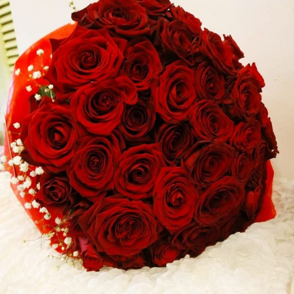 Bouquet with 51 Red Roses | Online florist flower creations Toumba Thessaloniki