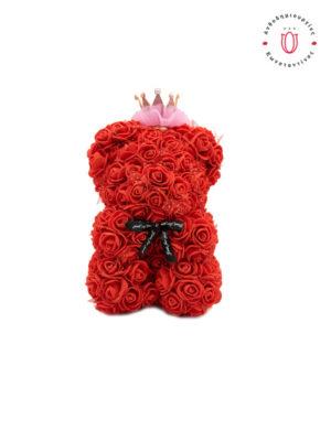 αρκουδάκι με τριαντάφυλλα και κορώνα θεσσαλονίκη | Online Ανθοπωλείο Ανθοδημιουργίες Τούμπα Θεσσαλονίκη