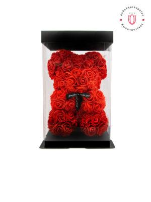 RED ROSE BEAR WITH GIFT BOX | Online Ανθοπωλείο Ανθοδημιουργίες Τούμπα Θεσσαλονίκη