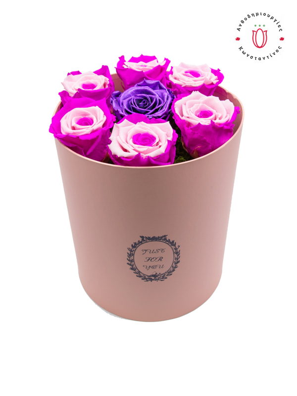 FOREVER ROSES THESSALONIC PINK PURPLE | Online Florist Florist Toumba Thessaloniki