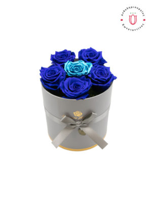 ETERNITY ROSES BLUE & BLUE METALLIC IN A BOX