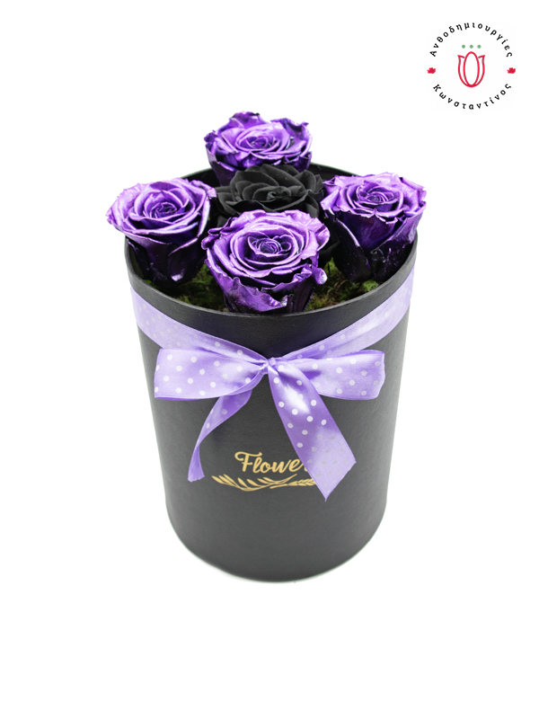 FOREVER ROSES PURPLE BLACK