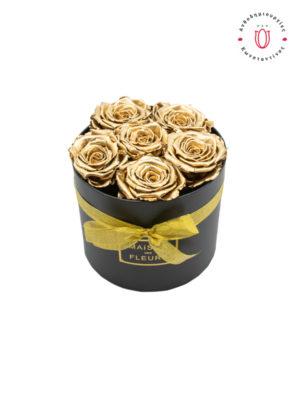 ЗОЛОТО НАВСЕГДА РОЗЕС в Салониках Онлайн Флорист Флорист Тумба Салоники
