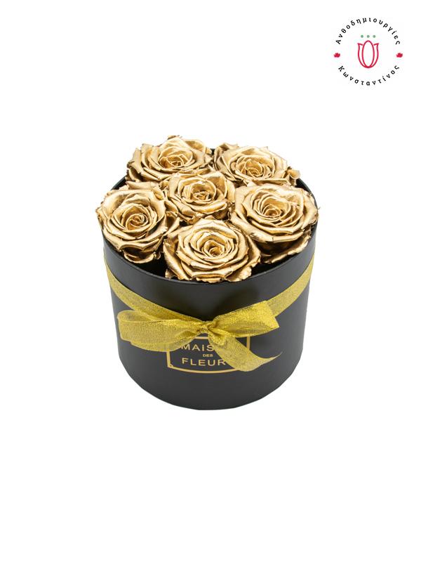 GOLD FOREVER ROSES στη Θεσσαλονίκη | Online Ανθοπωλείο Ανθοδημιουργίες Τούμπα Θεσσαλονίκη