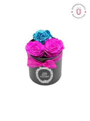ETERNITY ROSES PINK BLUE METALLIC Θεσσαλονίκη | Online Ανθοπωλείο Ανθοδημιουργίες Τούμπα Θεσσαλονίκη