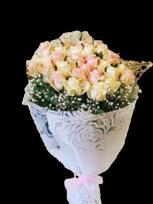 Ανθοδέσμη με τριαντάφυλλα για Χρόνια Πολλά και Γενέθλια Ανθοπωλείο Ανθοδημιουργίες Τούμπα Θεσσαλονίκης