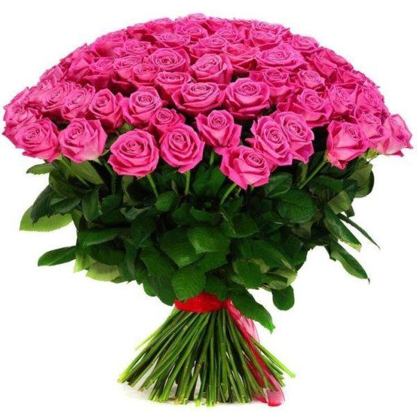 Ανθοδέσμη με 101 Τριαντάφυλλα Ροζ | ανθοπωλείο θεσσαλονίκη τούμπα