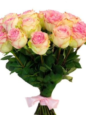 Bouquet with 21 Roses Pink