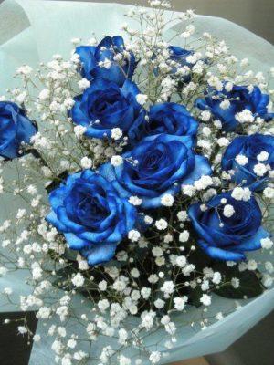 Ανθοδέσμη με μπλέ Τριαντάφυλλα | ανθοπωλεία θεσσαλονίκη τούμπα
