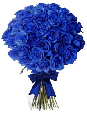 Ανθοδέσμη με 51 Μπλέ Τριαντάφυλλα