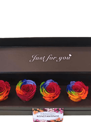 FOREVER ROSES RAINBOW IN A BOX